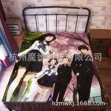120*200cm Japan Anime Chitanda Eru Flannel Blanket on Bed Mantas Bath Plush Towel Air Condition Sleep Cover bedding