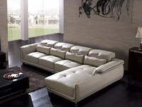 Hot Sale Italian Style Leather Corner Sofas For Living Room Furniture Sets