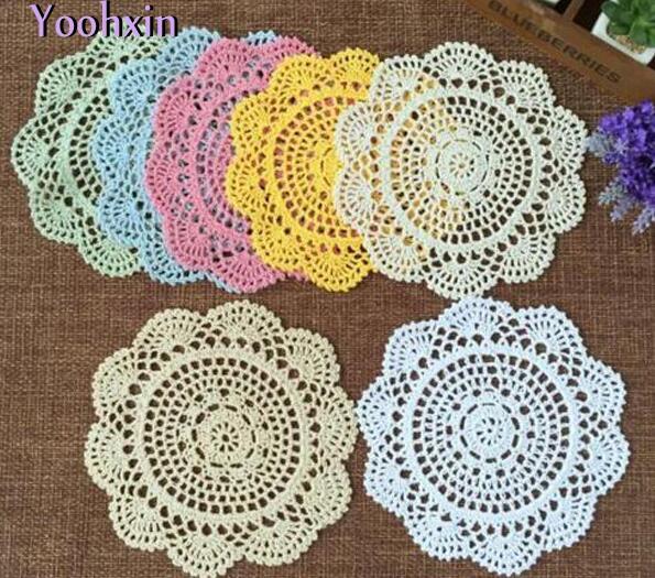 Modern Lace Cotton Table Mat Cloth Kitchen Crochet