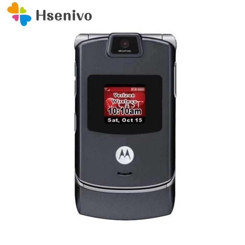 V3c 100% GOOD Quality Original Motorola Razr V3c CDMA Mobile Phone One Year Warranty Free Shipping Only Have English Language