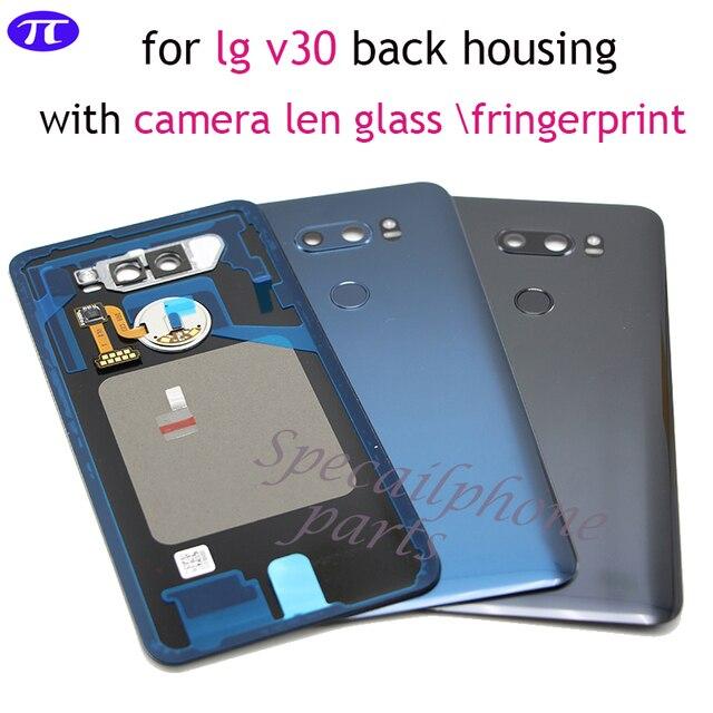 Back Cover for LG v30+/v30 Rear Housing Door Battery Cover for VS996 LS998U H933 LS998U H930 back housing with camera lens glass