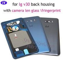 Cubierta trasera para LG v30 +/v30, cubierta trasera de la carcasa de la batería para VS996 LS998U H933 LS998U H930 Carcasa Trasera con cristal de lente de cámara