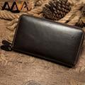 MVA клатч мужской из натуральной кожи мужской кошелек с карманом для монет двойной кошелек  бумажник на молнии мужской удлиненный бумажник д...