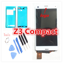 100 original For Sony Z3Mini Z3 Compact D5833 LCD Display With Touch Screen Digitizer assembly Black