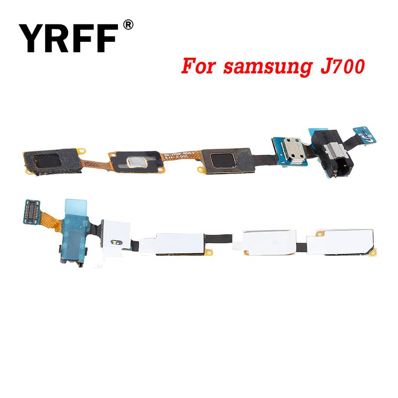 A+++ For Samsung Galaxy J7 <font><b>J700</b></font> J700F J7008 Dock Connector USB Charger Charging <font><b>Flex</b></font> Cable Micro USB Port Replacement Sensor image