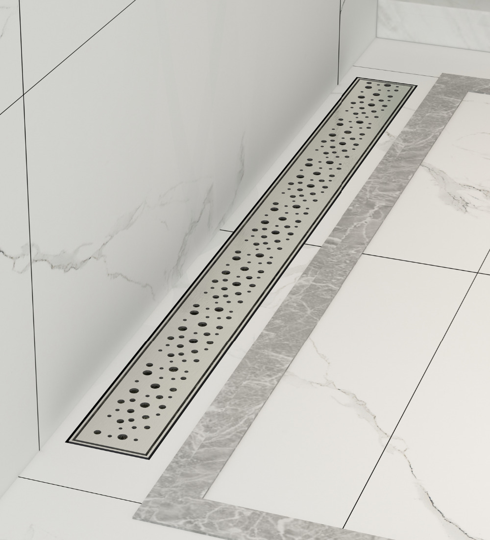 DIYHD 60cm-100cm Galaxy Star Hole Cut Stainless Steel Wetroom Linear Shower Drain Shower Channel With Debris Strainer