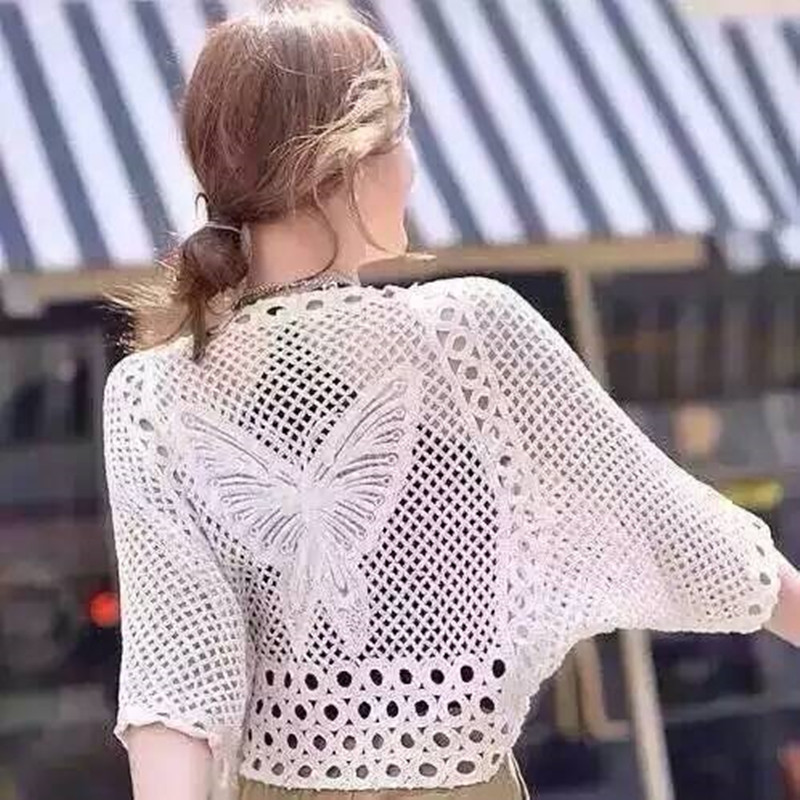 Bats Sleeve Robe De Plage Beach Dress Tunic Crochet Cover up Coverup Swimwear White Large Size Bathing Suit Cover Ups 2016