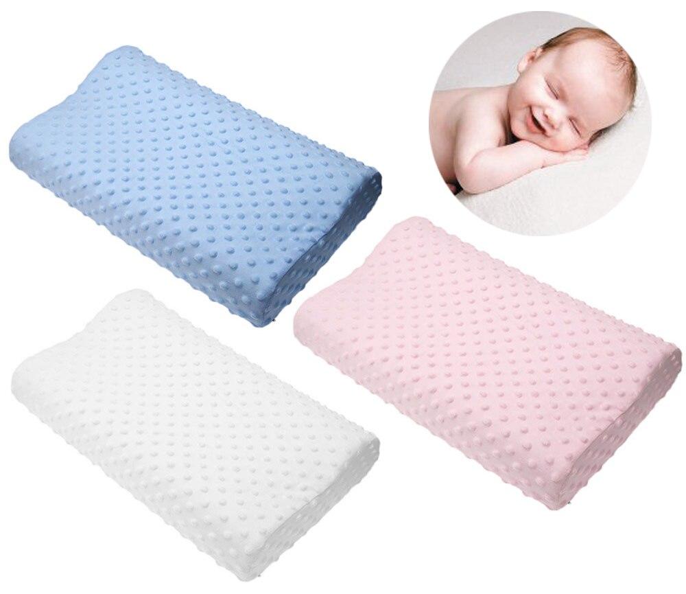 Caliente almohada de espuma de memoria 3 colores almohada ortopédica látex cuello almohada fibra lenta rebote suave almohada Cervical cuidado de la salud
