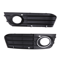 Siyah Oto Styling Araç Grill işık Rozet Led B8 Tampon sis Işık Grill Grille Olmayan sline Audi A4 2008-2012 için Sol sağ