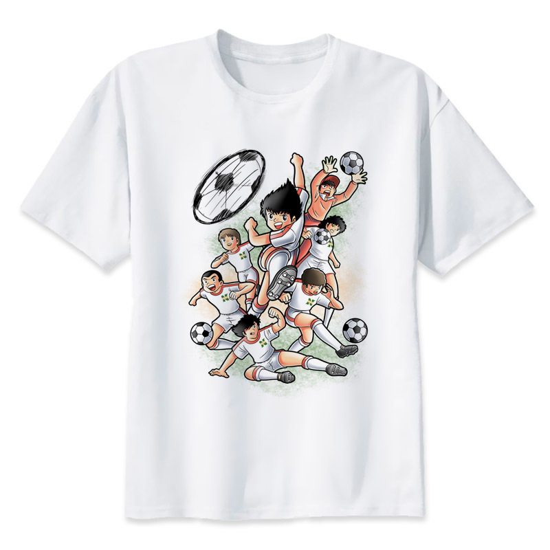 Captain Tsubasa 2017 fashion short t shirt printed Funny t-shirt men tops MR1283