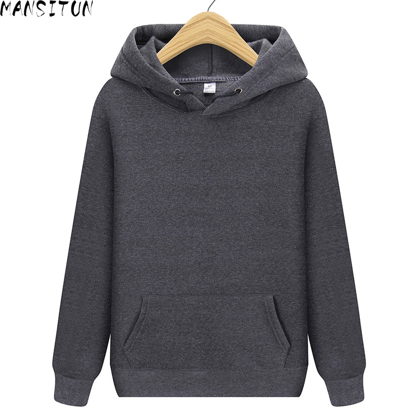 Pure Color Hoodies Casual Long Sleeve Hoodies Streetwear Hip Hop Male Pullover Winter Keep Warm Harajuku Sweatshirt Men Brand