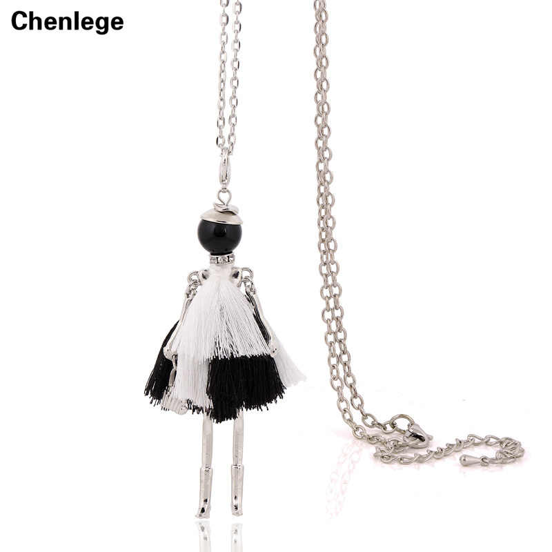 5e3a4962fd8 french tassel necklace long chain doll statement necklace pendant 2017 new style  big collar fashion jewelry