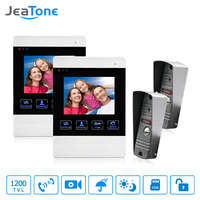 JeaTone 4 Inch Color Screen Display Monitor Picture and Video Record Video Door Phone Intercom HD Doorbell Camera Night Vision