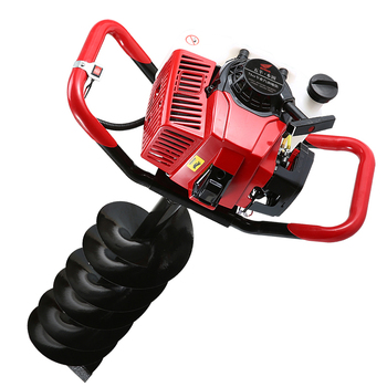 71CC Gasoline Earth Auger With 15cm Drilling Head High Power Two Stroke Single Cylinder Gasoline Hole Drilling Machine ef6600 mz360 cylinder head gasoline generator parts replacement