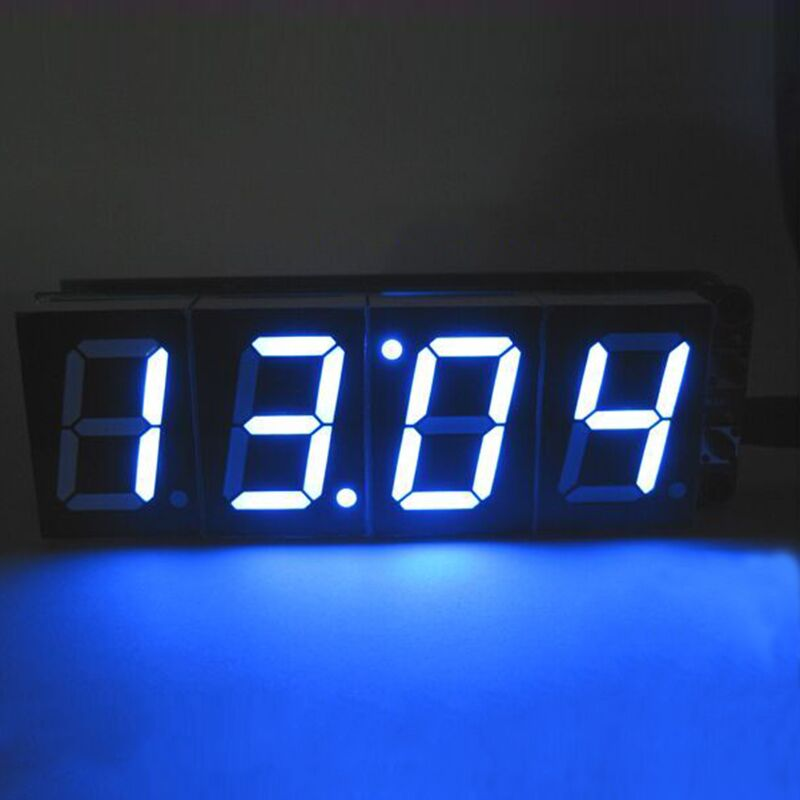 1 inch 4-Bit Digital Tube LED Clock Kit LED Display Module Blue 4 Digit LED Display Alarm Clock Electronic DIY Kit For Arduino