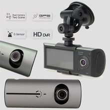 Best price 2.7″ Vehicle Car DVR Camera Video Recorder Dash Cam G-Sensor GPS Dual Len Futural Digital Drop Shipping AUGG17