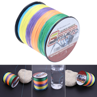 500M PE Weaving Strong 4 Strands Multifilament Braided Lure Fishing Line 0 6 0 8