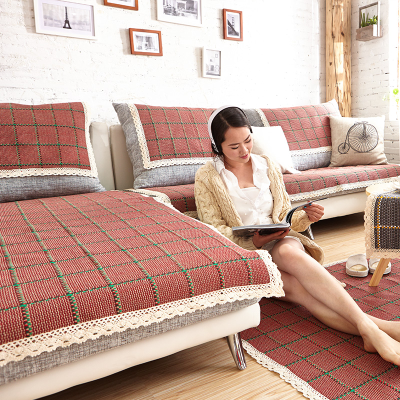 Hot Summer sofa covers for sectional sofa couch red plaid