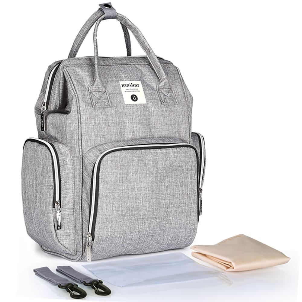 Moda mamá bolsa de pañales de maternidad marca de gran capacidad - Pañales y entrenamiento para ir al baño - foto 1