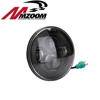 1x For Jeep Wrangler 7 Inch Round H13 H4 45W LED Projector Headlight BLACK Silver