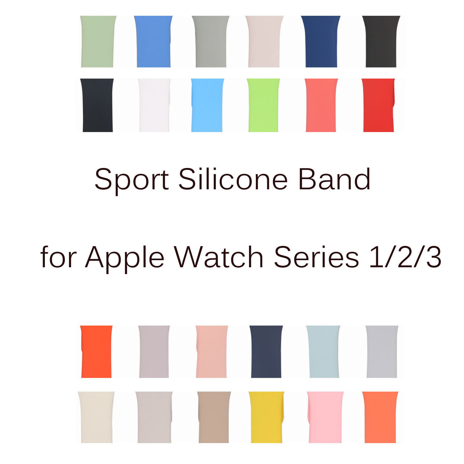 все цены на High Quality Sport Silicone Strap for Apple Watch Band Series 1/2/3 Replacement Rubber Bracelet for iWatch 42mm 38mm Watchbands онлайн