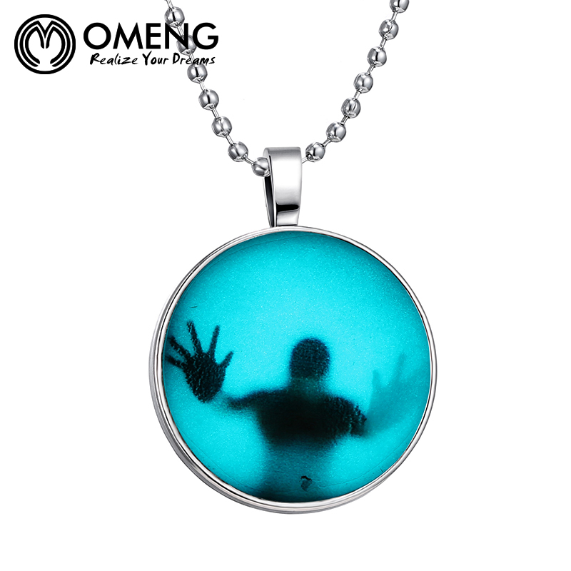 OMENG DIY jewelry Round Glass Necklace Jenia Hot Selling Stock Creative Glow The Mars Gl ...