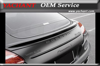 FRP Fiber Glass Rear Spoiler Wing Fit For 2010 2013 Porsche Panamera 970 WA Sports Line Black Bison Edition Style Trunk Spoiler