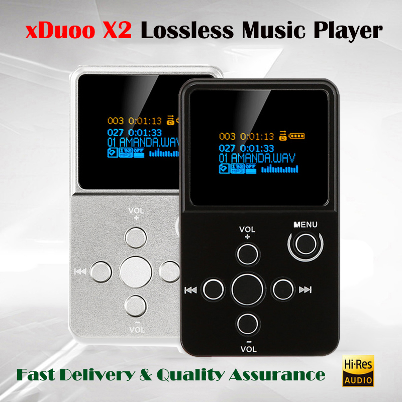 xDuoo X2 Professional Digital Audio Player Mp3 HD Mini Lossless Music Player with OLED Screen Protable HI FI Flac Mp3 Player DSD купить недорого в Москве