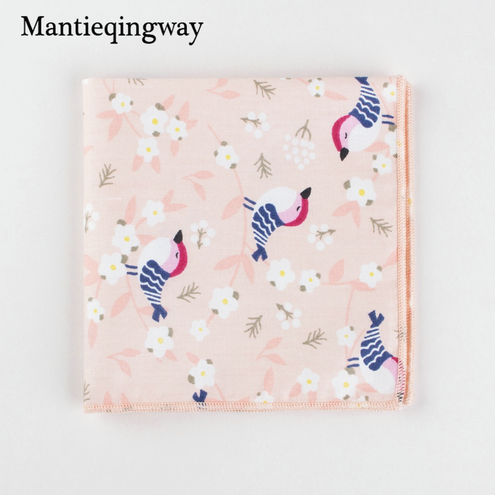 Mantieqingway Cotton Mens Suit Wedding Handkerchiefs Chest Towel Cartoon Pocket Square Formal Pocket Hanky Ladies Hankies