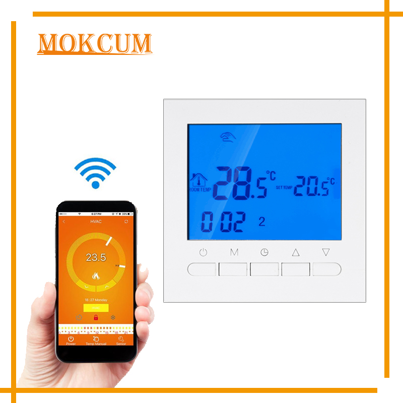 Programmable Smart Thermostat Wifi Remote Controller with Large Touch Screen Indoor Room Temperature Warm Floor Heating System electric floor heating room touch screen thermostat warm floor heating system thermoregulator temperature controller 220v 16a
