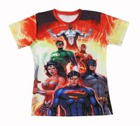 new arrival Hot Sale High Superman Batman Green Lantern Good qualityed 3D T-shirts Punk 3D Short Sleeve Tee