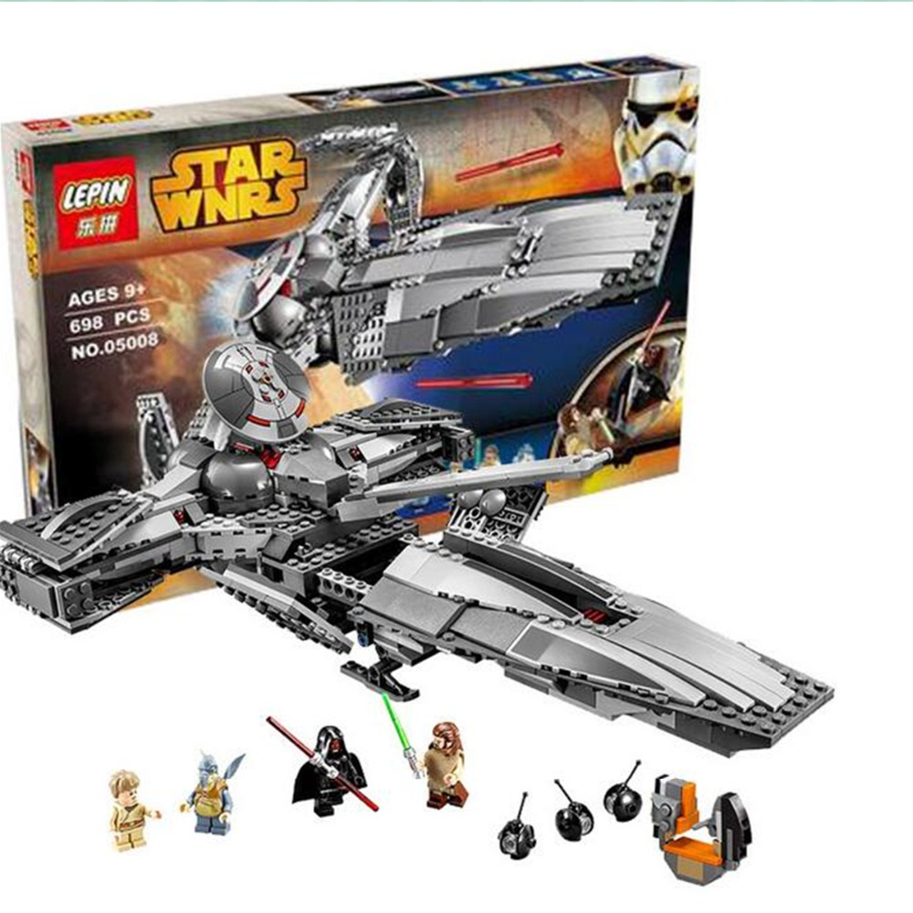 05008 LEPIN 698Pcs The Force Awakens Sith Infiltrator STAR WARS Building Block Darth Margus Compatible With LEGO Star Wars Toys