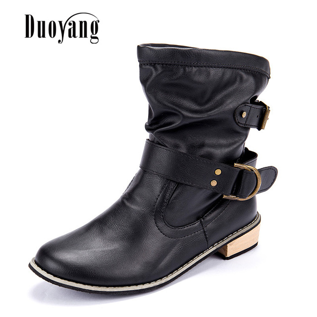 Women winter boots Motorcycle boots 2016 fashion Dongkuan classic Women winter boots