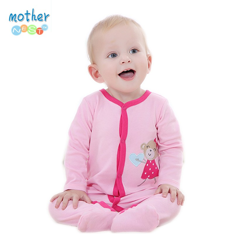 2016 Baby Clothes Little Bear Cute Baby Rompers Cotton Body Ropa Long Sleeve Infant Boys Girls Spring Summer Jumpsuit (3)