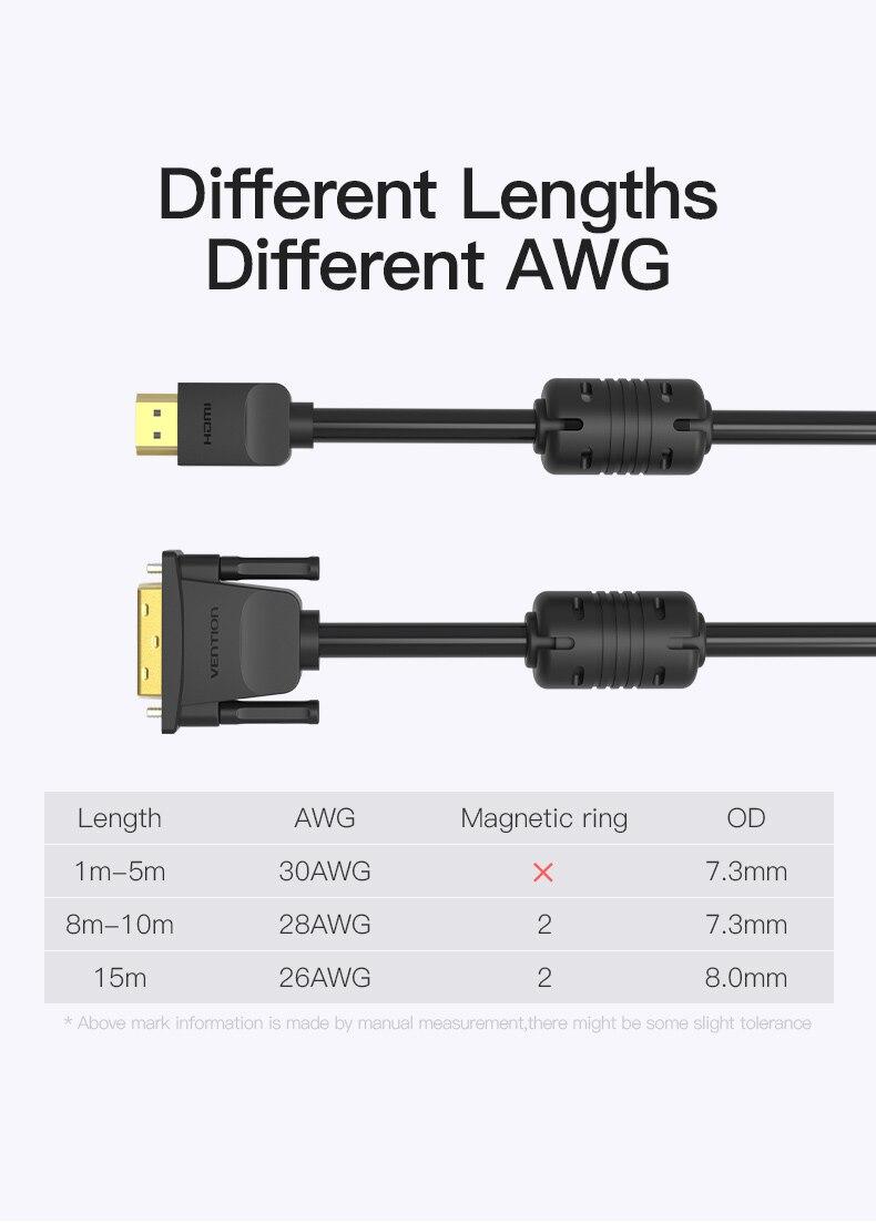 HDMI to DVI Cable 1m 2m 3m 5m DVI-D 24+1 Pin HTB1CPhicW5s3KVjSZFNq6AD3FXaM