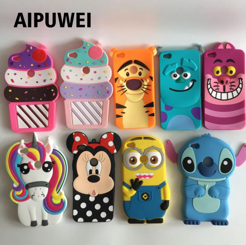 Galleria fotografica AIPUWEI Coque For Huawei P8 Lite 2017 Cute 3D Cartoon Soft Silicon Phone Case Cover fundas For Huawei P8 Lite 2017 unicorn capa
