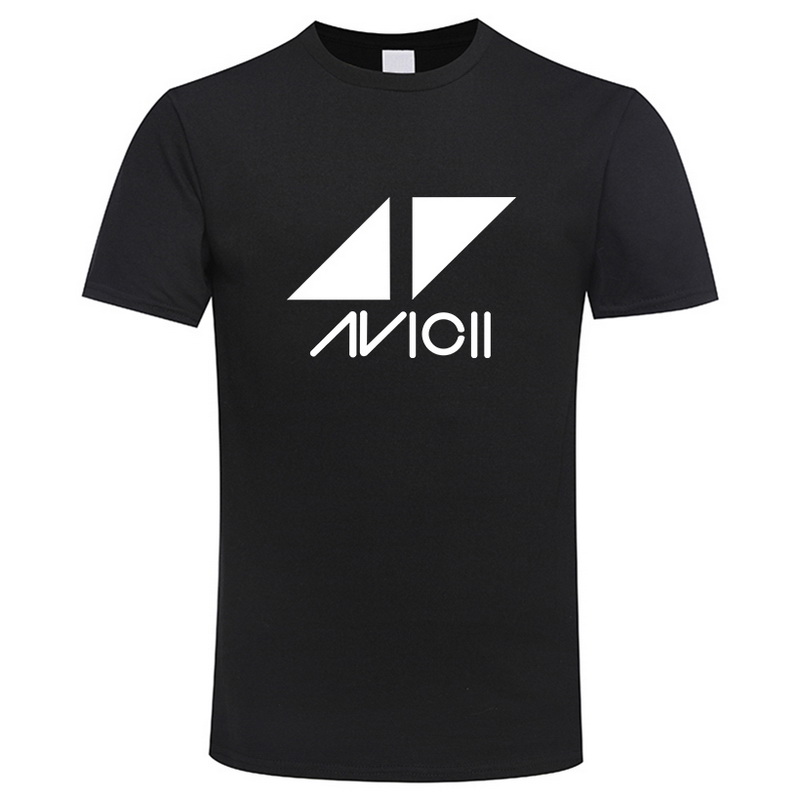 2018 Avicii DJ Logo Summer T-shirt Men Cotton Short Sleeve Print Fans Club Casual Hip Hop T Shirt Homme KPOP Men Tshirt Tops