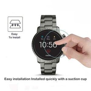 Image 4 - 2Pack Für Fossil Q Explorist HR Gen 4 0,3mm 2,5 D Klar Gehärtetem Glas Screen Protector Smartwatch Bildschirm schutz Schutz Film