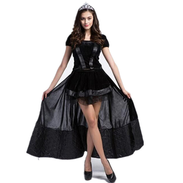 Online Shop Halloween Fairy Tale Black witch Costumes Women ...