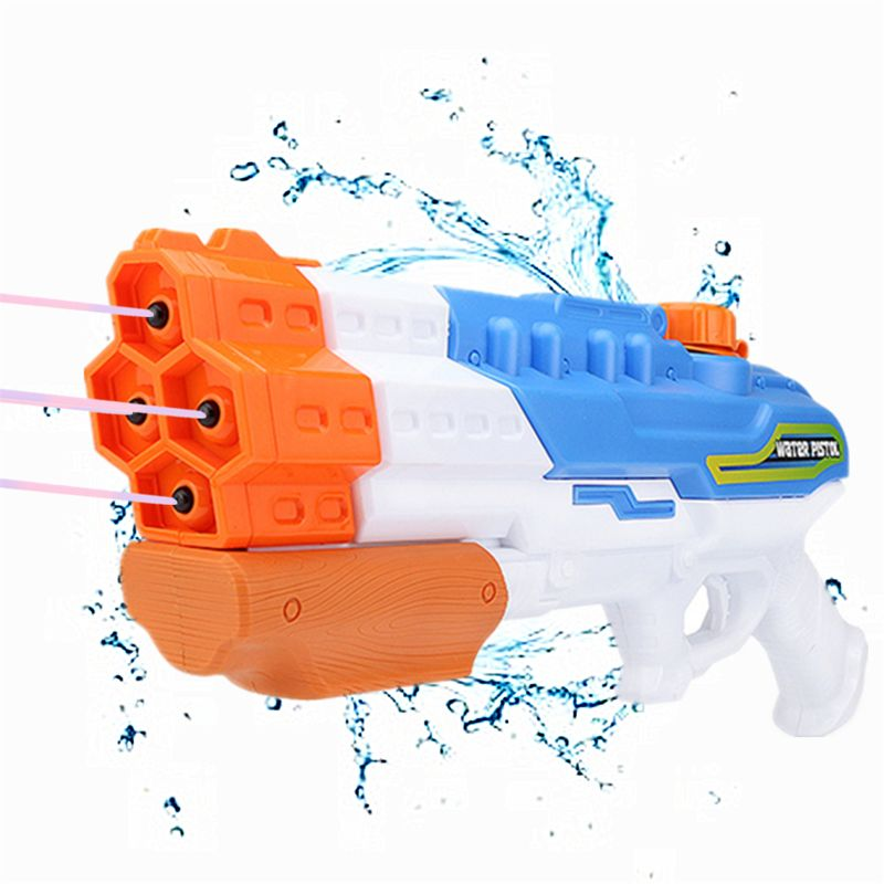 Water Gun Soaker 4 Nozzles Water Blaster 1200CC Squirt Gun 30ft Water Pistol Water Fight Summer Toys Outdoor Swimming Pool Beach
