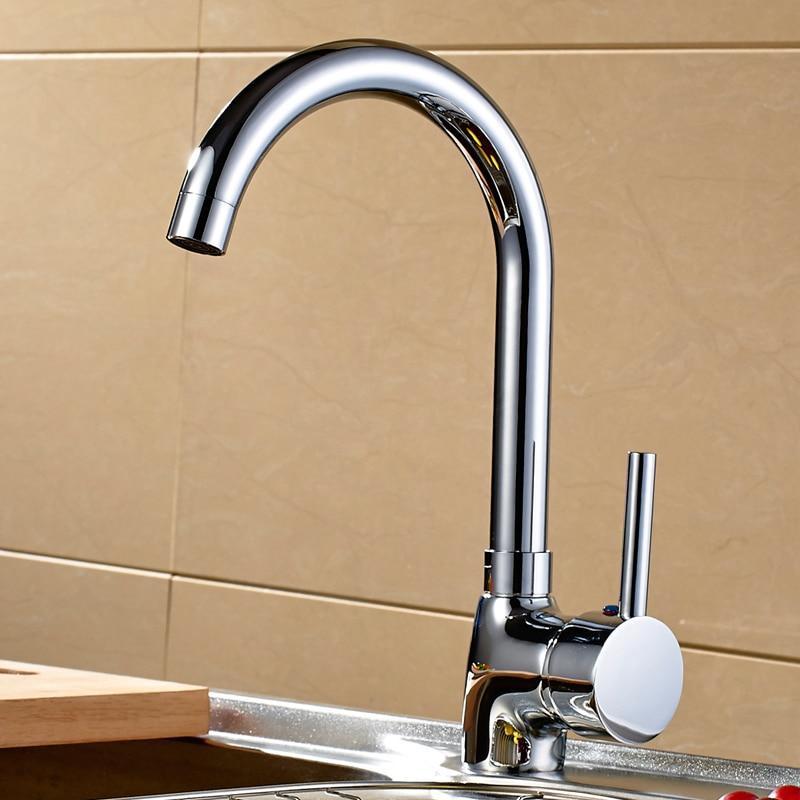 The single copper cold vegetable single hole brass basin faucet kitchen faucet sink faucet ceramic core