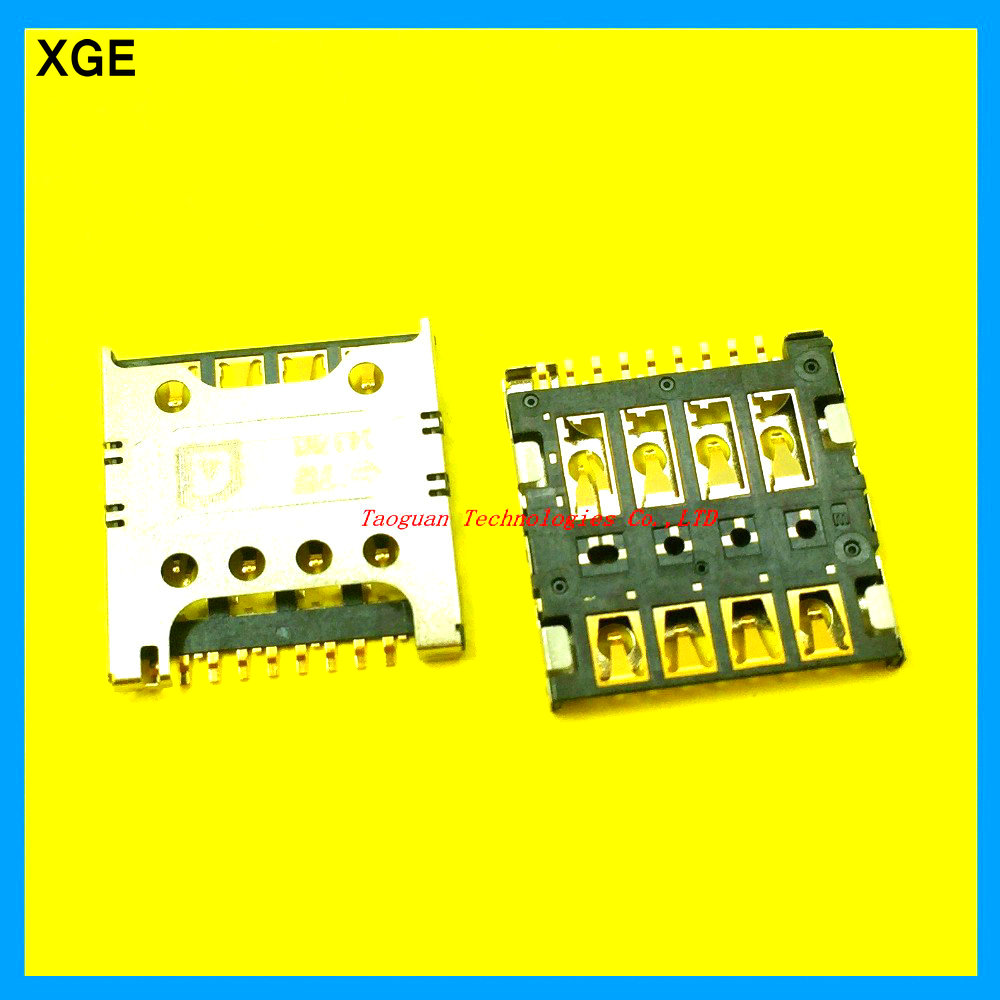 2pcs/lot XGE New sim card socket reader holder slot tray replacement for LG F240L/S/K G2 E980 E988 F320 d415 E985t top quality