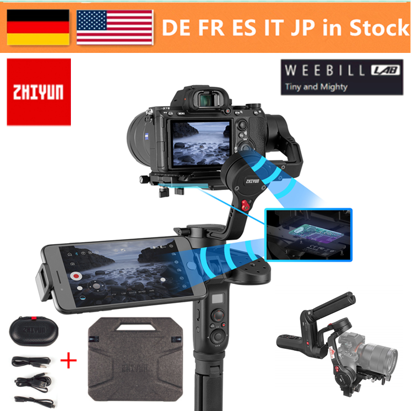 Zhiyun Weebill laboratorio 3-inalámbrica Axis imagen transmisión estabilizador de cámara para la cámara de pantalla OLED de cardán portátil