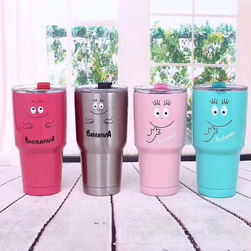 30OZ New Fashion Tumbler Cup Vacuum Insulation Beer Wine Mug Big Capacity Beer Bottle Stainless Steel Mug Coffee Cup