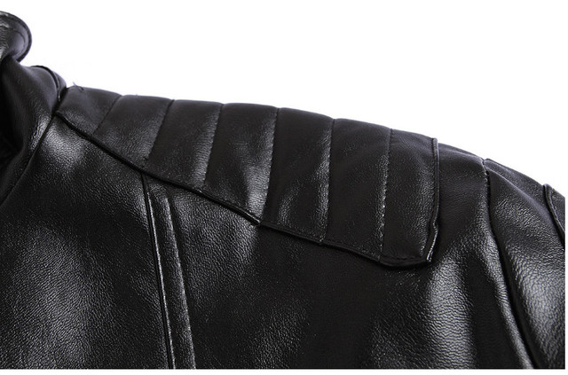 Icpans Punk Pu Men Leather Jacket Veste Cuir Homme PU Leather Skull Motorcycle Jackets leather Coats Plus Size XXXL 4XL 5XL