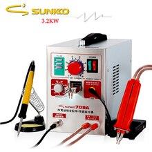 Сварочный аппарат SUNKKO 709A, аппарат для точечной сварки ручка сварщика, точечная Импульсная Сварка, 18650 кВт, 110 В, 220 В, для аккумуляторов ЕС, США