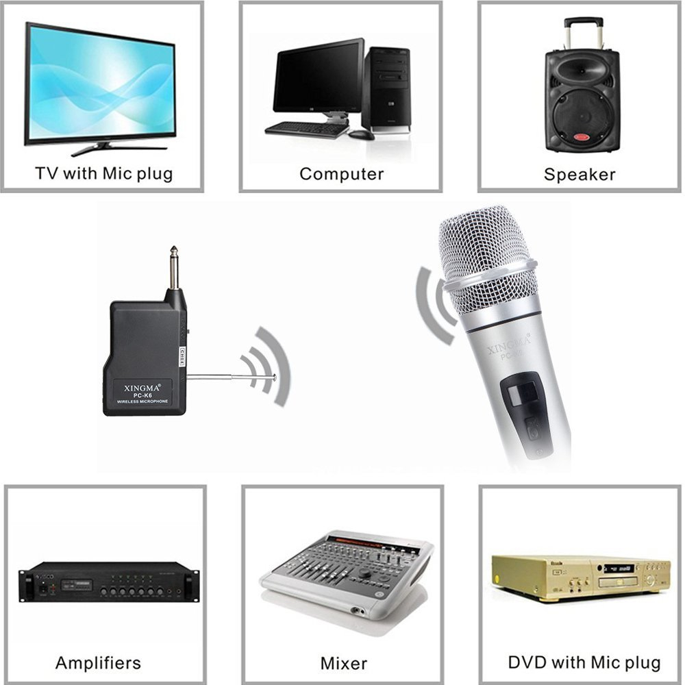 XINGMA PC-K6 сымсыз микрофон Караоке - Портативті аудио және бейне - фото 5