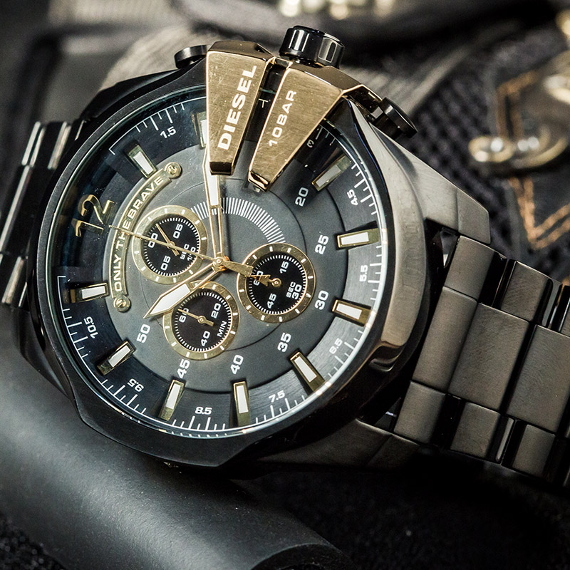 Serie del oficial del Diesel CHIEF oro negro timequartzite Reloj - Relojes para hombres - foto 3