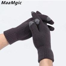 Winter Autumn Men Women Knitted Gloves Touch phone Thicken W