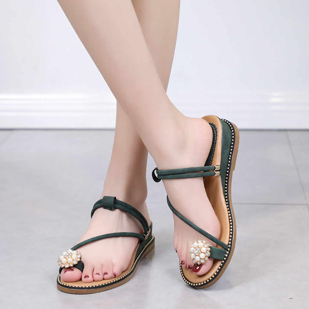 Women's Sandals Clip Toe Leather Summer